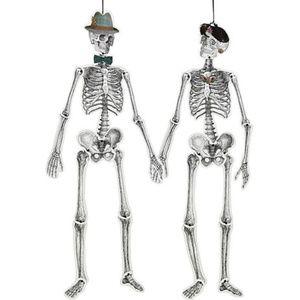 NEW Hipster Skeletons Hanging Halloween Decoration